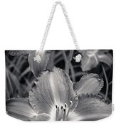 Day Lilies In Black And White Weekender Tote Bag by Adam Romanowicz