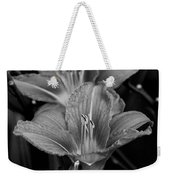 Day Lilies In Black And White Weekender Tote Bag