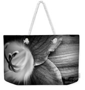 Day Lily Detail - Black And White Weekender Tote Bag