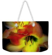 Day Lily On Black Weekender Tote Bag