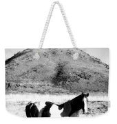 Day Moon And Paint Weekender Tote Bag