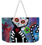 Day Of The Dead Cat Weekender Tote Bag
