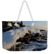 Daybreak At Cove Point Lodge Cottages Weekender Tote Bag