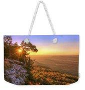 Daybreak On Mt. Magazine - Arkansas - Cedar Tree - Autumn Weekender Tote Bag