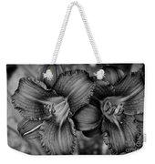 Daylilies Black And White Weekender Tote Bag