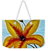 Daylily Expressive  Brushstrokes Weekender Tote Bag