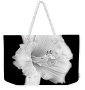 Daylily Flower Portrait Black And White Weekender Tote Bag