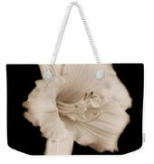 Daylily Flower Portrait Sepia Weekender Tote Bag