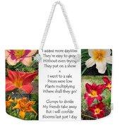 Daylily Math Weekender Tote Bag