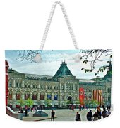 Daytime View Of Gum-former State Department Store-in Red Square In Moscow-russia Weekender Tote Bag