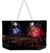 Dazzling Fireworks II Weekender Tote Bag by Ray Warren