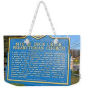 De-kc81 Site Of Duck Creek Presbyterian Church Weekender Tote Bag