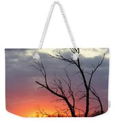 Dead Tree At Sunset Weekender Tote Bag
