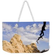 Dead Tree Limb Hanging Over Rocky Landscape In The Mojave Desert Weekender Tote Bag