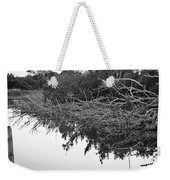 Deadfall Reflection In Black And White Weekender Tote Bag