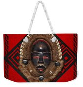 Dean Gle Mask By Dan People Of The Ivory Coast And Liberia On Red Leather Weekender Tote Bag