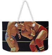 Dean Ho Vs Don Muraco In Old School Wrestling From The Cow Palace Weekender Tote Bag