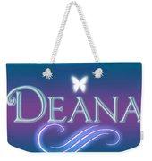 Deana Name Art Weekender Tote Bag