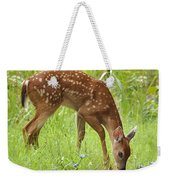 Little Fawn Blue Wildflowers Weekender Tote Bag