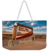 Death Valley Entry Weekender Tote Bag