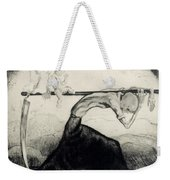 Death With Two Children Carried On His Scythe Weekender Tote Bag by Michel Fingesten