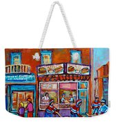 Decarie Hot Dog Restaurant Ville St. Laurent Montreal  Weekender Tote Bag