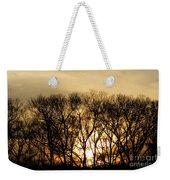 December Forest Dusk Weekender Tote Bag