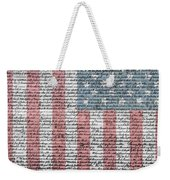 Declaration Of Independence Weekender Tote Bag by Dan Sproul
