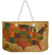 Declaration Of Independence Word Map Of The United States Of America Weekender Tote Bag