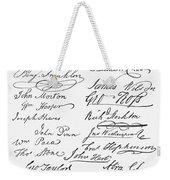 Declaration: Signatures Weekender Tote Bag