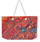 Deco Flower Swirls Weekender Tote Bag