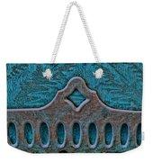 Deco Metal Blue Weekender Tote Bag