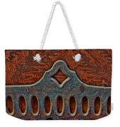 Deco Metal Red Weekender Tote Bag