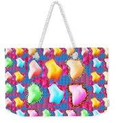 Deco Pattern Patchup Collage Crystals Jewels Rose Flower Petals Weekender Tote Bag