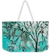 Decorative Abstract Floral Birds Landscape Painting Bird Haven I By Megan Duncanson Weekender Tote Bag