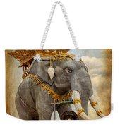 Decorative Elephant Weekender Tote Bag by Adrian Evans