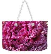 Decorative Fancy Pink Kale Weekender Tote Bag