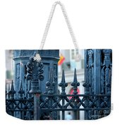 Decorative Iron Fence In New Orleans Weekender Tote Bag