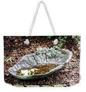 Decorative Leaf Birdbath Weekender Tote Bag