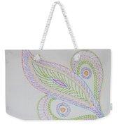Decorative Leaf Weekender Tote Bag