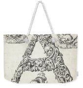 Decorative Letter Type A 1650 Weekender Tote Bag