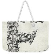 Decorative Letter Type E 1650 Weekender Tote Bag