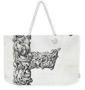 Decorative Letter Type F 1650 Weekender Tote Bag