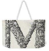 Decorative Letter Type M 1650 Weekender Tote Bag