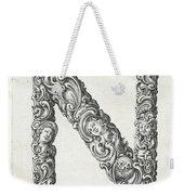 Decorative Letter Type N 1650 Weekender Tote Bag