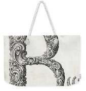 Decorative Letter Type R 1650 Weekender Tote Bag