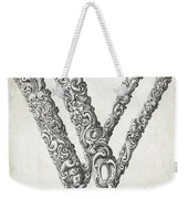 Decorative Letter Type W 1650 Weekender Tote Bag