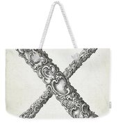 Decorative Letter Type X 1650 Weekender Tote Bag