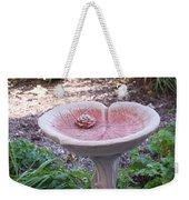 Decorative Lilypad Birdbath Weekender Tote Bag