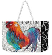 Decorative Rooster Chicken Decorative Art Original Painting King Of The Roost By Megan Duncanson Weekender Tote Bag